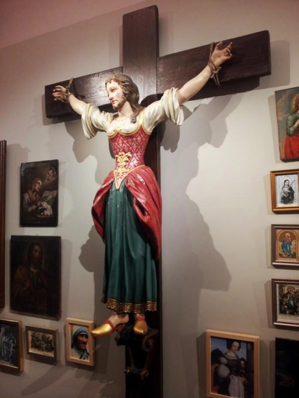 Saint Wilgefortis in the Museum of the Diocese Graz-Seckau in Graz, Austria