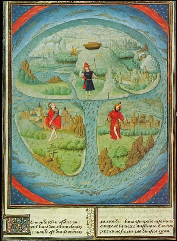Mappa mundi in Jean Mansel's 'La Fleur des Histoires'