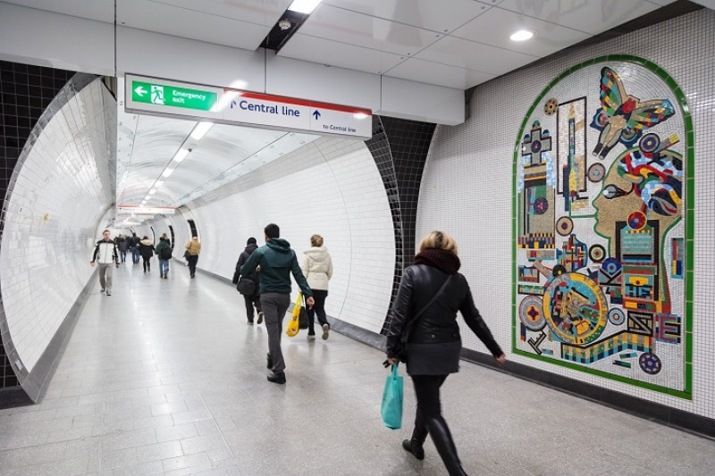 Eduardo Paolozzi's mosaic at Tottenham Court Road station