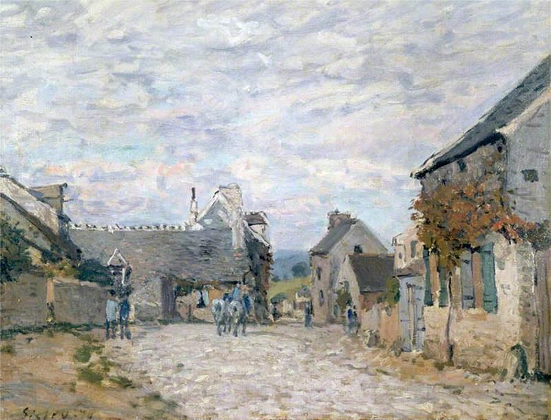 La petite place, la rue du village