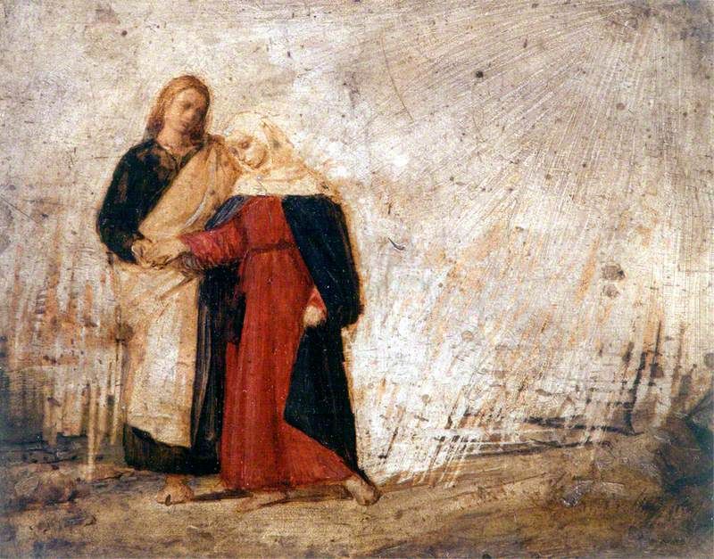 Saint John Leading Home His Adopted Mother