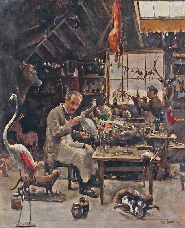 George Sim in His Workshop, Aberdeen