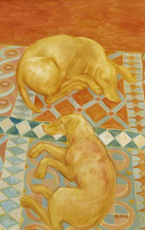 Two Dogs, Reclining