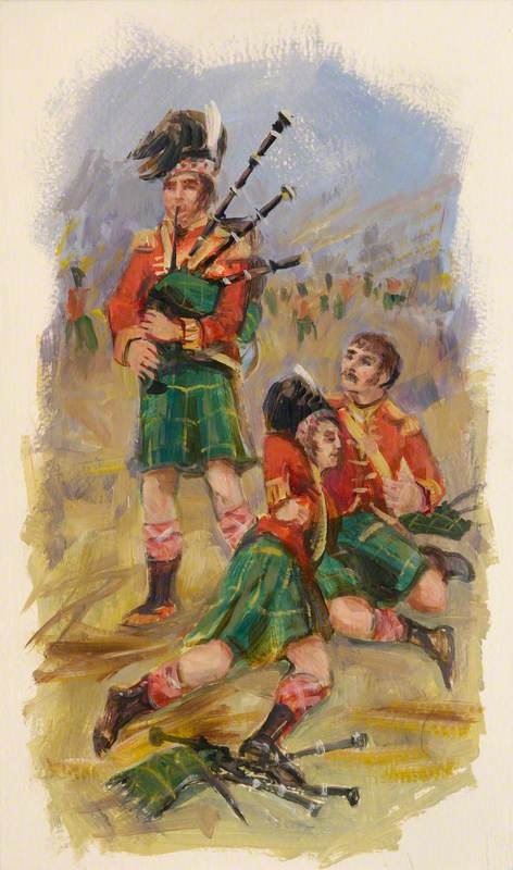 The Three Pipers at Saint-Pierre