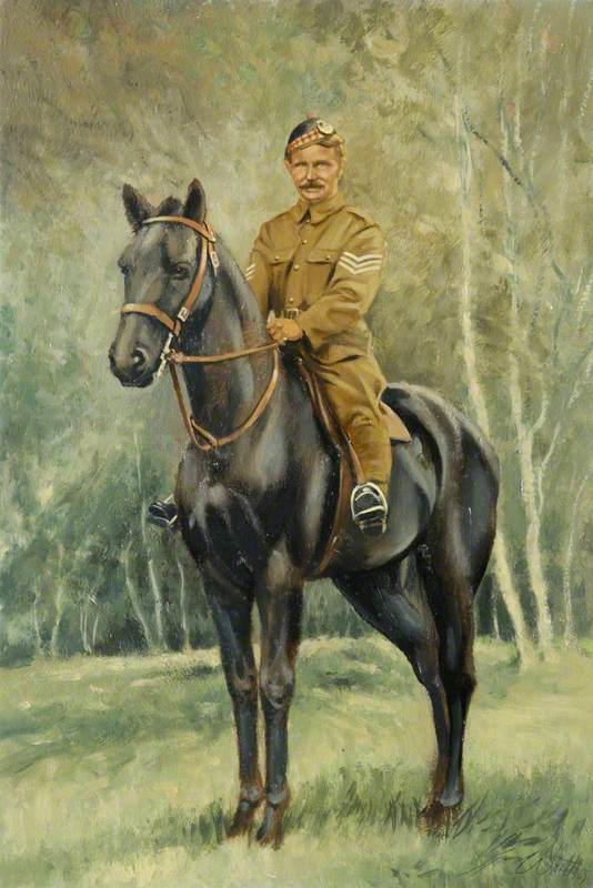 Transport Sergeant James G. Nicol, 4th Gordon Highlanders on 'Tommy', Flanders, 1915