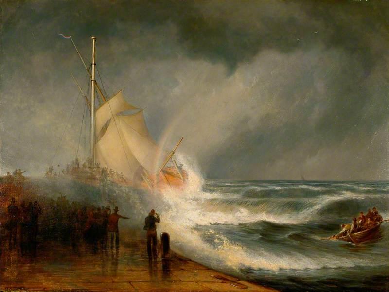 A Shipwreck off the Pier at Aberdeen
