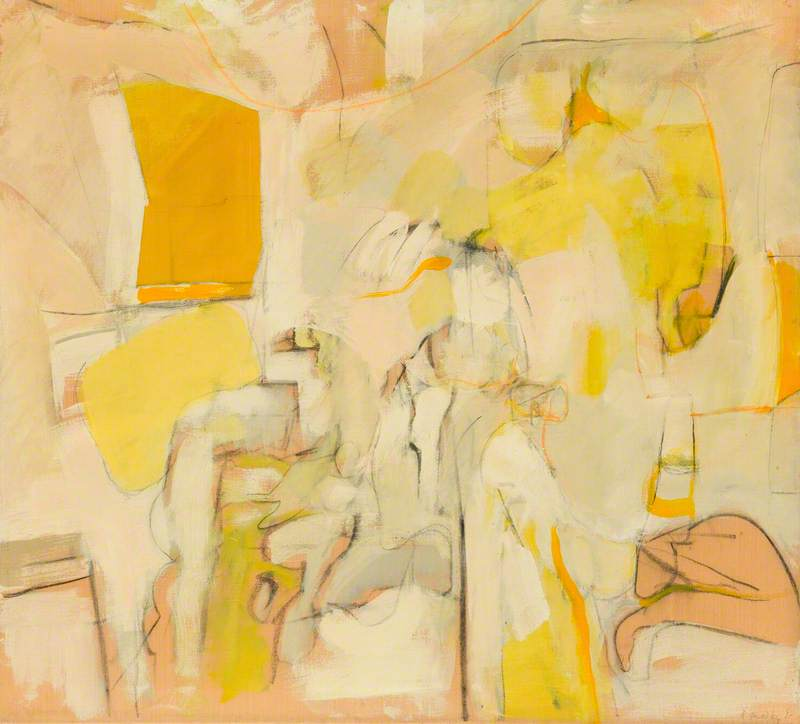 Yellow and White Figuration