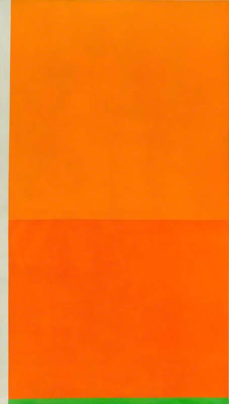 Bright Orange with Green