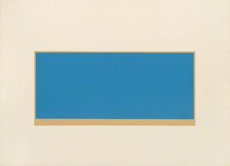 Drawing 1971 (Untitled, Blue/Green)