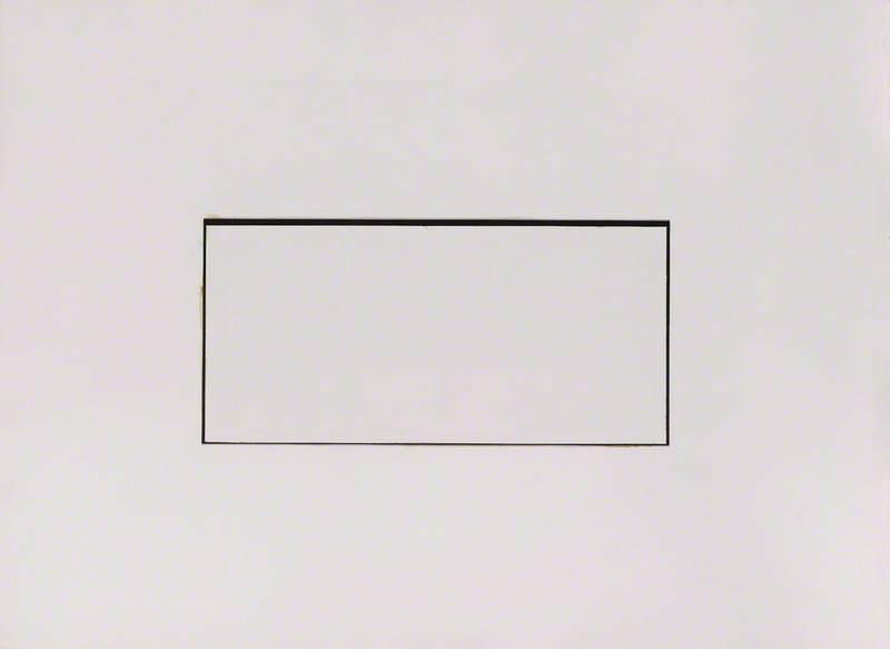 Drawing 1971 (Untitled, Cream/Black)