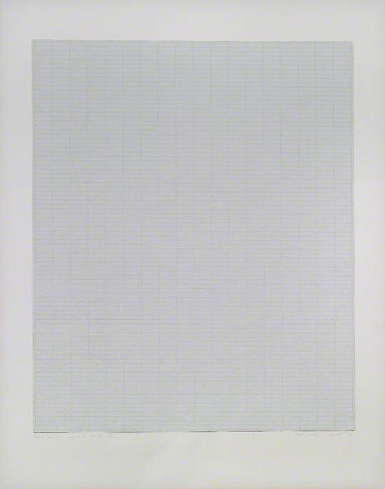 White Drawing, Light Grey Intervals VIII