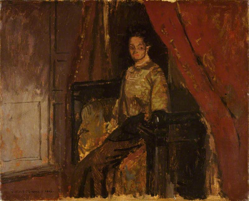 Woman Seated on a Bed, Dieppe