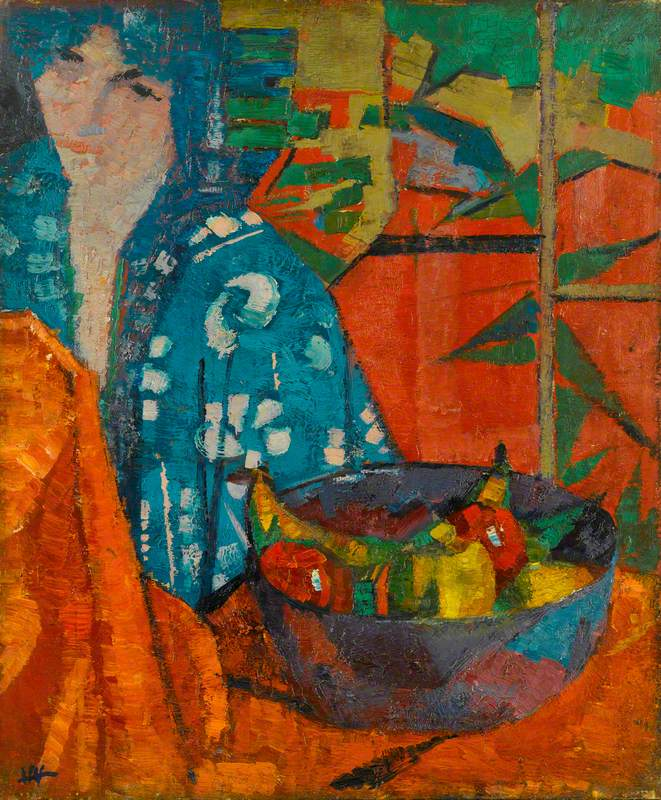 Woman with a Bowl of Fruit