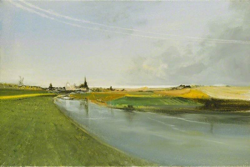 Lincolnshire Waterway and Distant Wash
