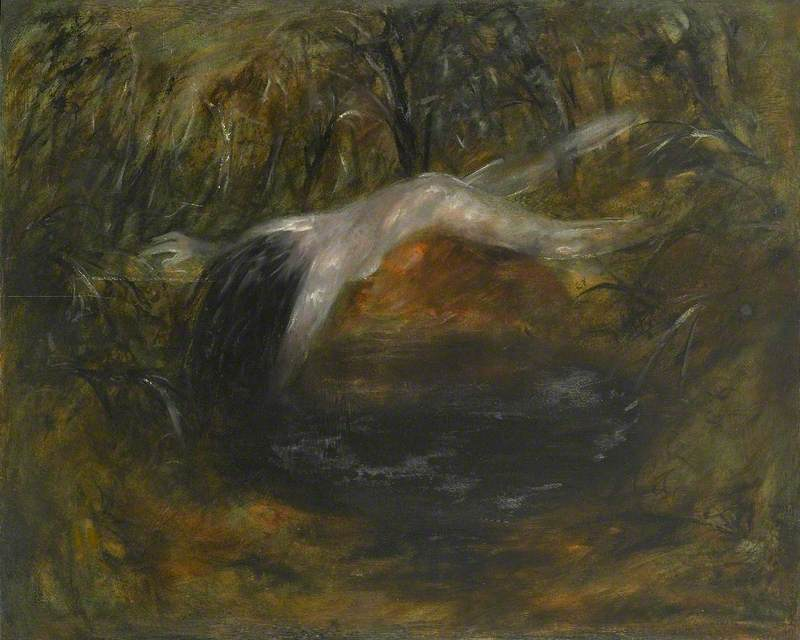 Nude Floating over a Dark Pond II