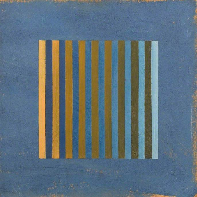Wood: Yellow and Blue II