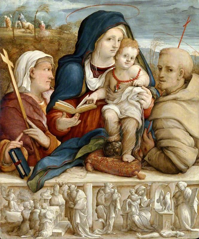 Virgin and Child between Saint Helena and Saint Francis