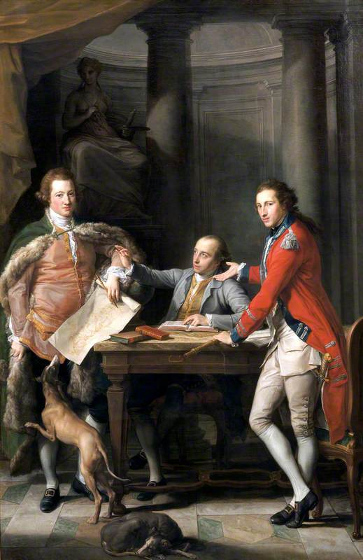 Sir Watkin Williams-Wynn (1749–1789), 4th Bt, Thomas Apperley (1734–1819), and Captain Edward Hamilton