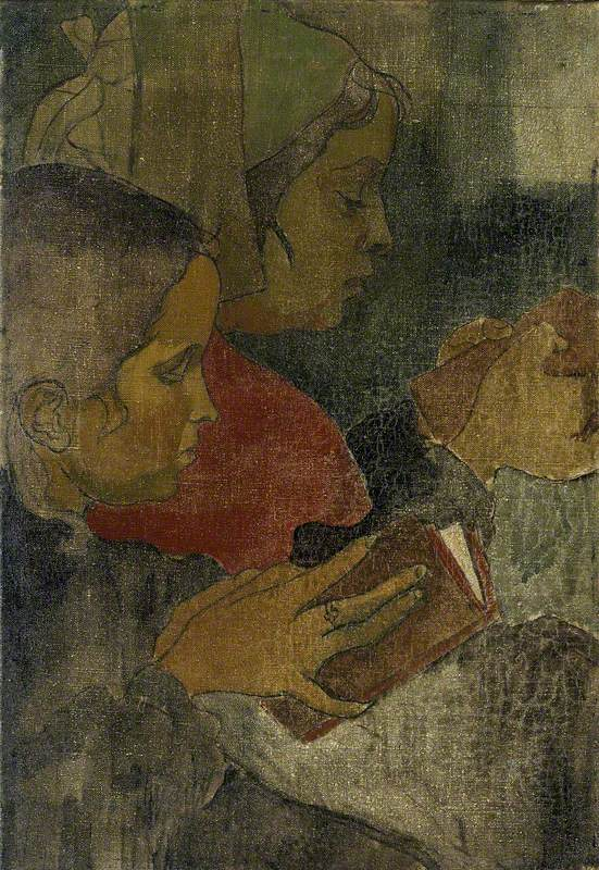 Breton Peasant Women at Mass