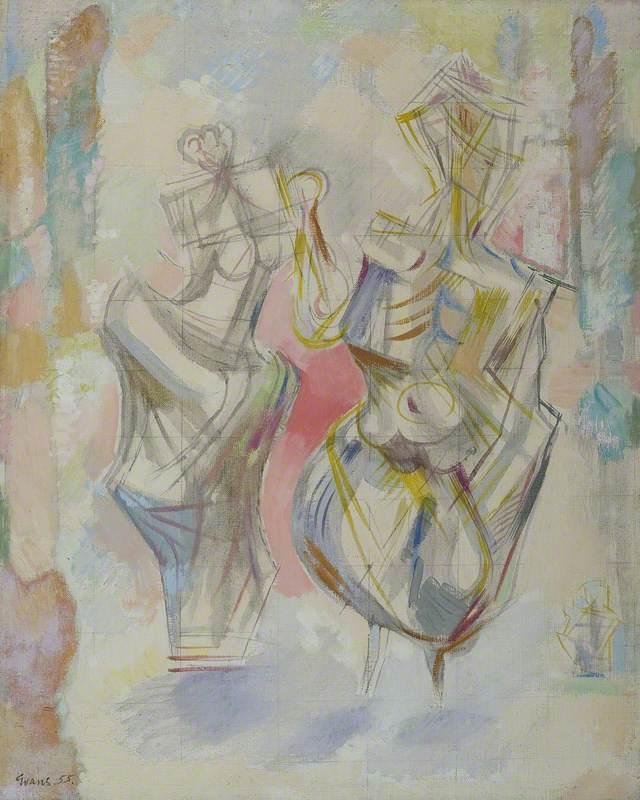 Two Kabuki Dancers