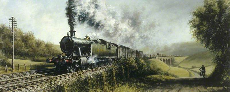 GWR Freight Train in South Wales Headed by Locomotive 720X