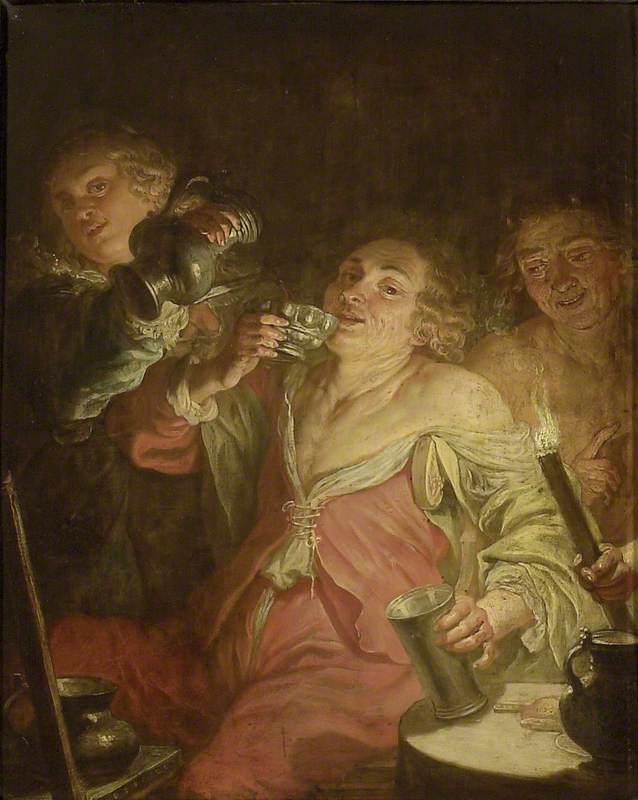 A Man drinking: 'Gluttony'