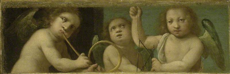 Three Putti with Musical Instruments