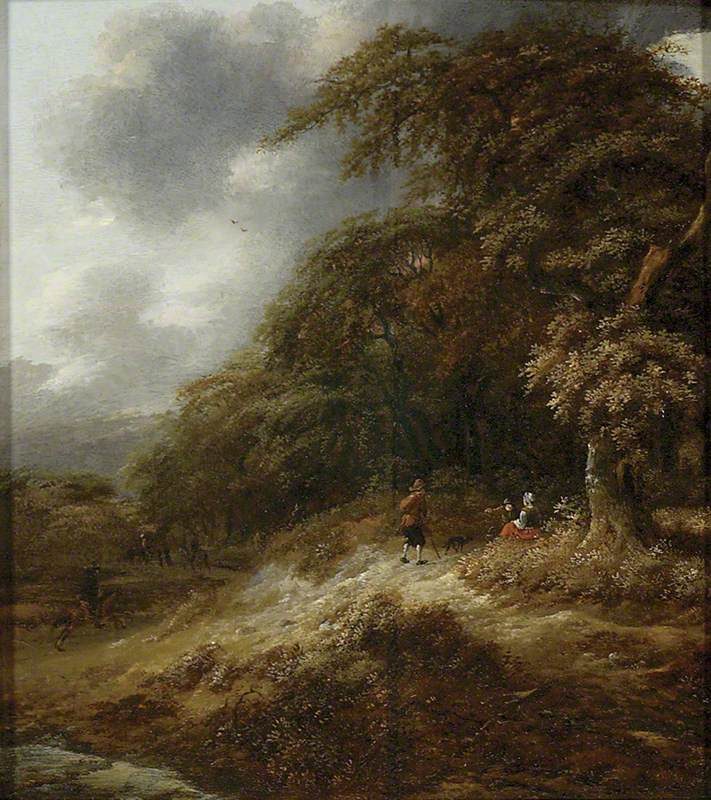 A Path leading through a Wood with Figures