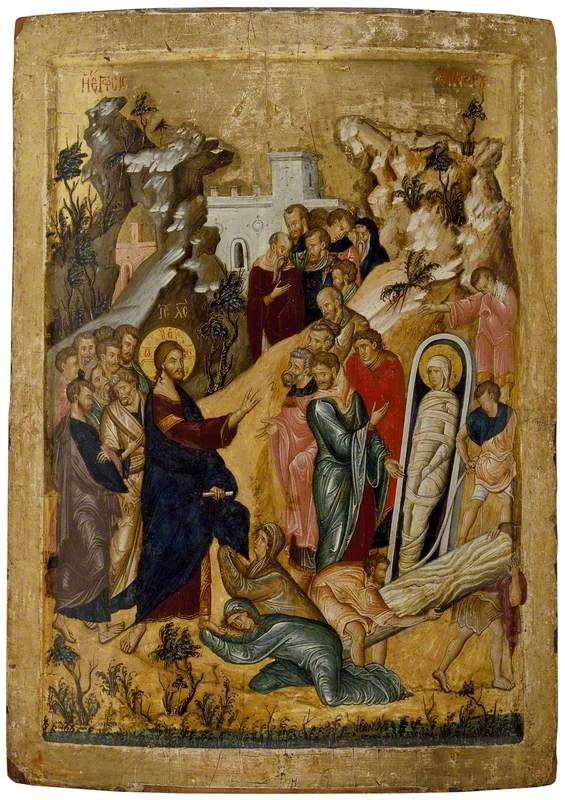 Icon of The Raising of Lazarus