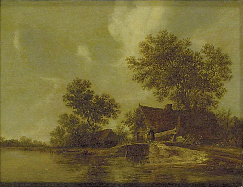 Cottages beside a River