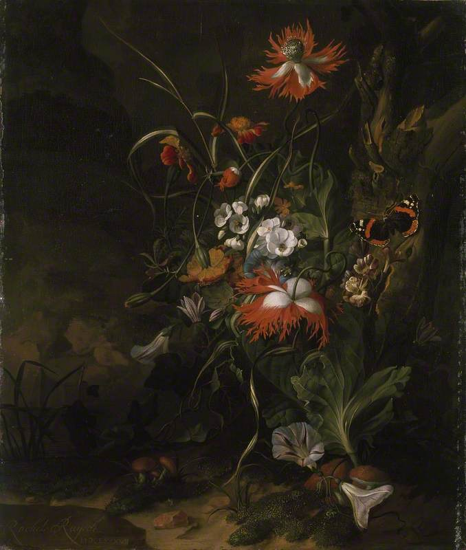 A 'Forest Floor' Still Life of Flowers