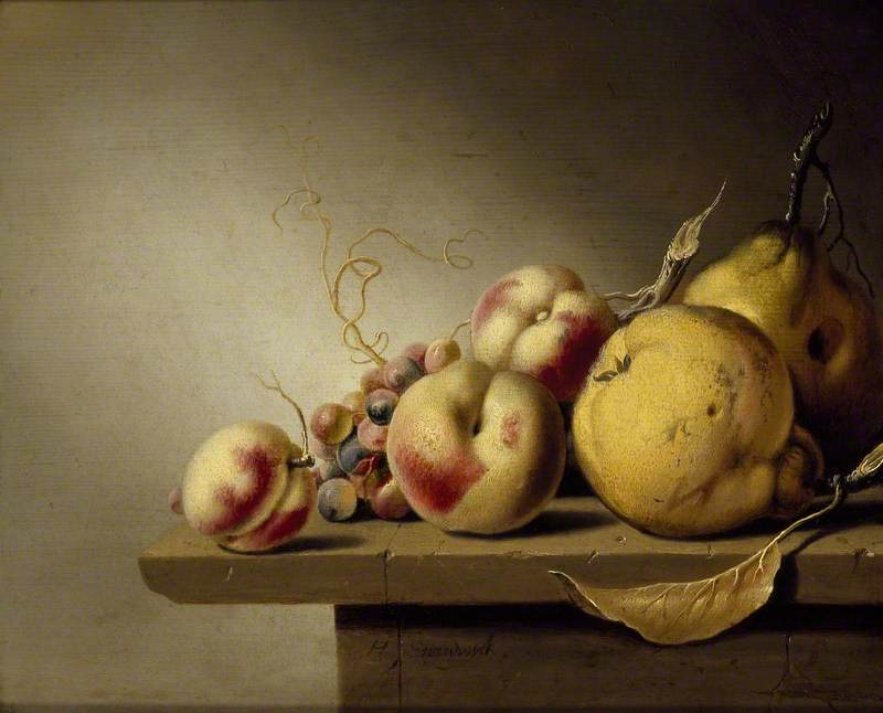 Still Life of Fruit on a Ledge