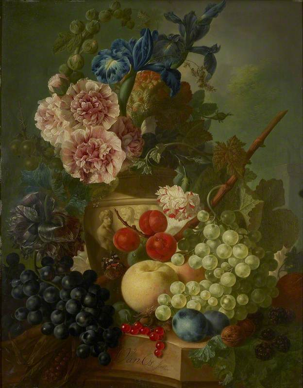 Still Life of Flowers and Fruit
