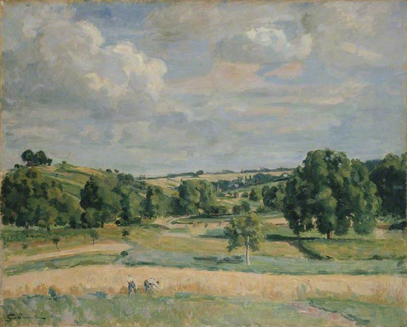 Landscape: Harvest-time in the Somme Valley