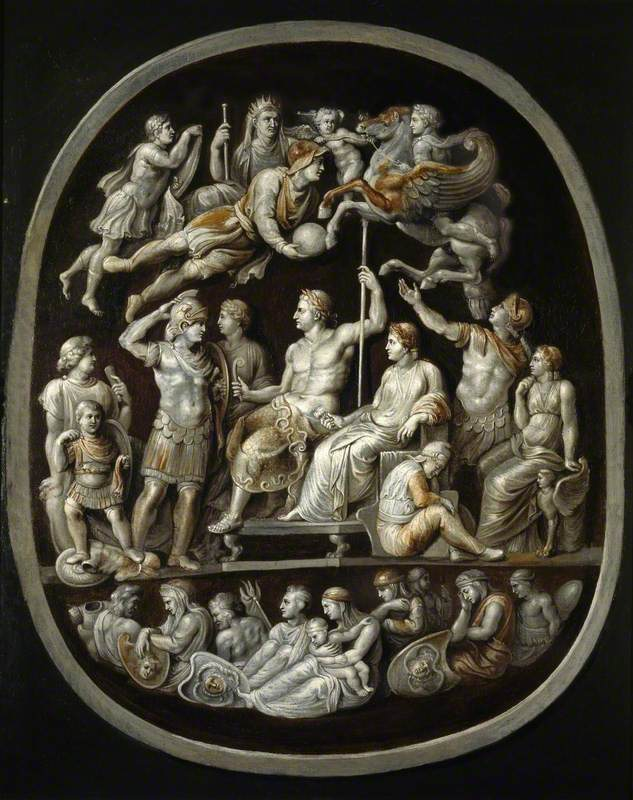 The 'Apotheosis of Germanicus': Copy after an antique Cameo (The 'Gemma Tiberiana')