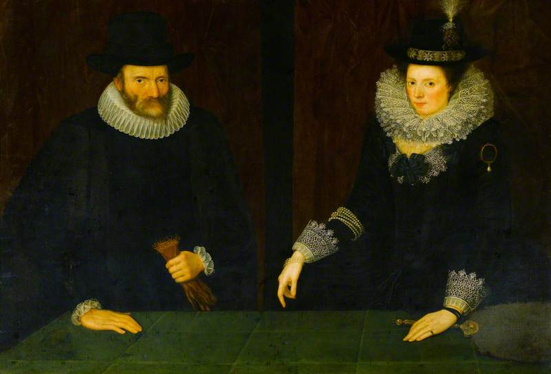 Sir John Croke (1553–1619), Recorder of London, Speaker of the House of Commons and Judge of the King's Bench, and His Wife, née Katherine Dormer