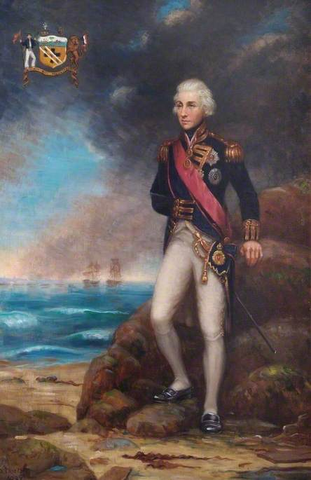 Lord Nelson Standing on the Seashore
