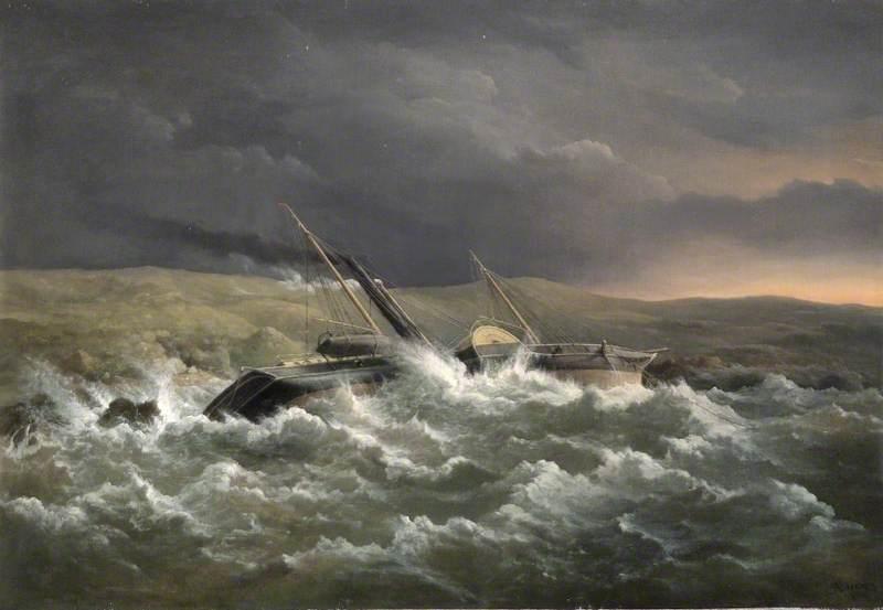 'HMS Danube' Blown on Shore while in Kazatch Bay, Sevastopol, Ukraine, 14 November 1854 (Lieutenant in Command, Ralph P. Cator)