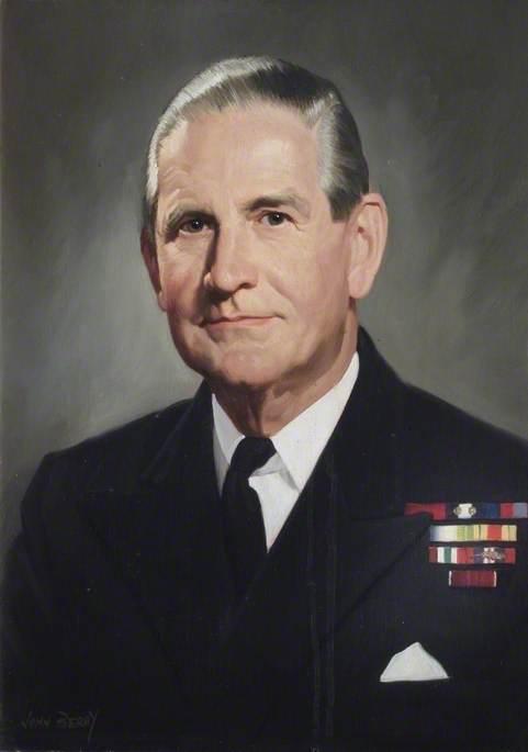 Rear Admiral J. P. Scratchard, DSC, Commandant (1960–1962)