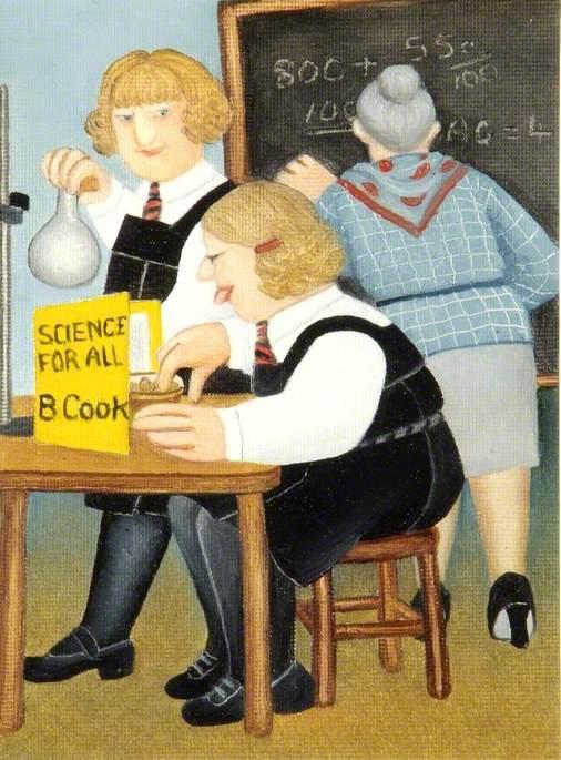 Self Portrait in Science Lesson at Kendrick School