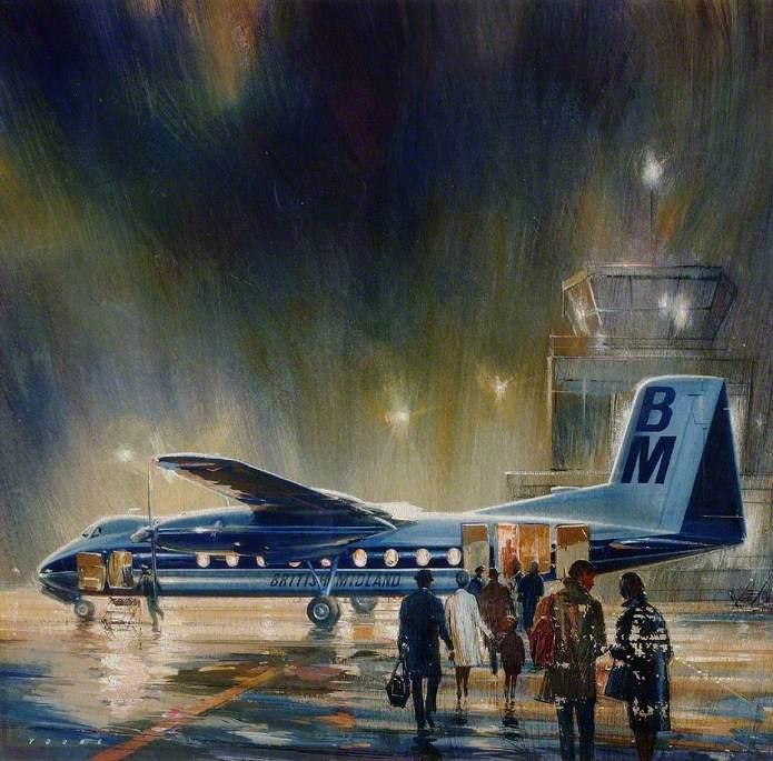 British Midland Dart Herald, Evening Departure