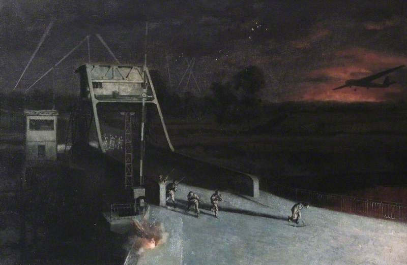 Glider Borne Landing and the Capture of Bénouville Bridge, Normandy, France, by the 2nd Battalion (52nd) of the Oxfordshire & Buckinghamshire Light Infantry, the First Formed Body of British Troops to Reach Normandy on D-Day, 0016Hrs, 6 June 1944