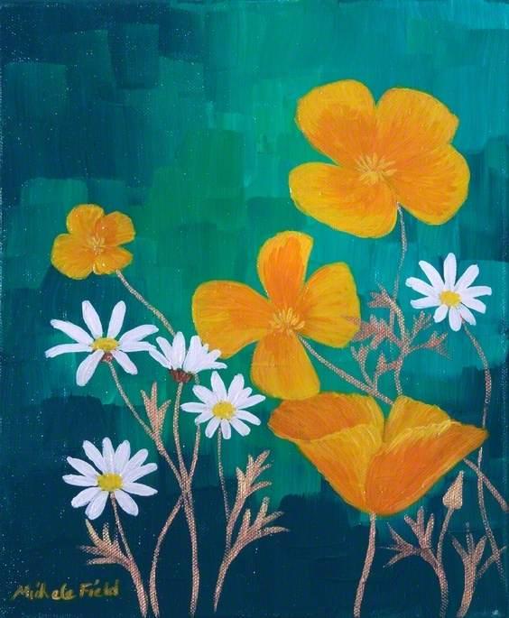 Daisies and Orange Flowers