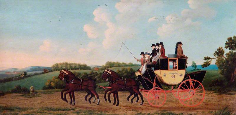 Francis Blewitt's Coach, 'The Abingdon Machine', on Its First Journey from London