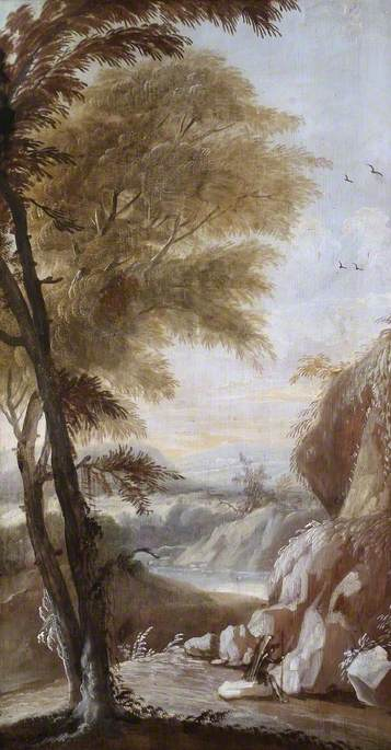 Travellers Resting in a Mountainous Landscape