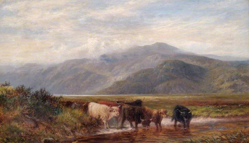 Landscape with Cattle Drinking