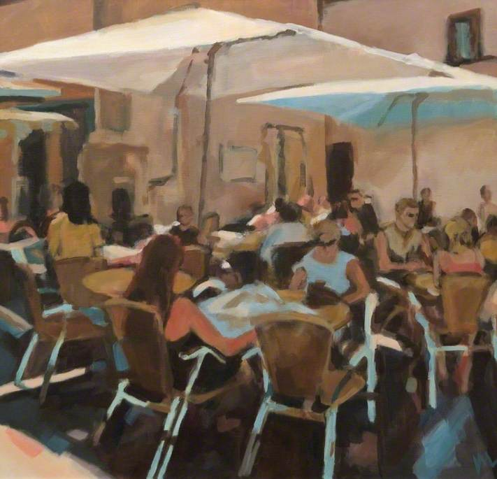 Café in the Shaded Corner