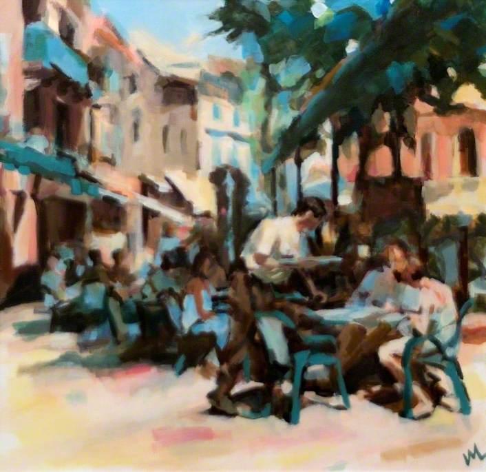 A Café in an Old Town