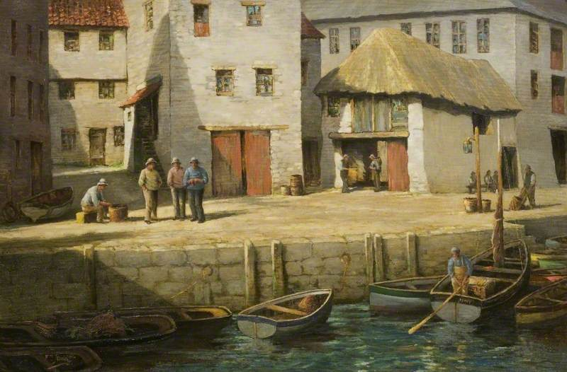 In Mevagissey Harbour, Cornwall