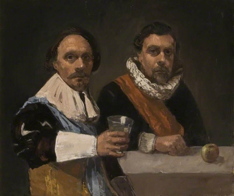 Double Portrait of Two Gentlemen in Militia Costume